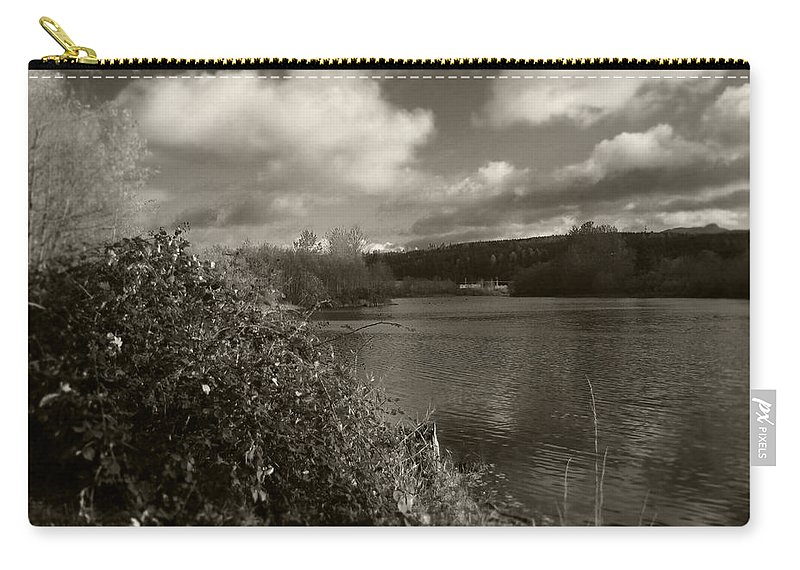Landscape Carry-all Pouch featuring the photograph Lakeside View by Kathleen Grace