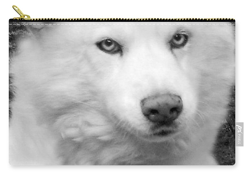 Siberian Husky Carry-all Pouch featuring the photograph Lakota by Eric Albright