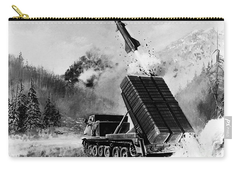 1980 Carry-all Pouch featuring the photograph Lance Missile, C1980 by Granger