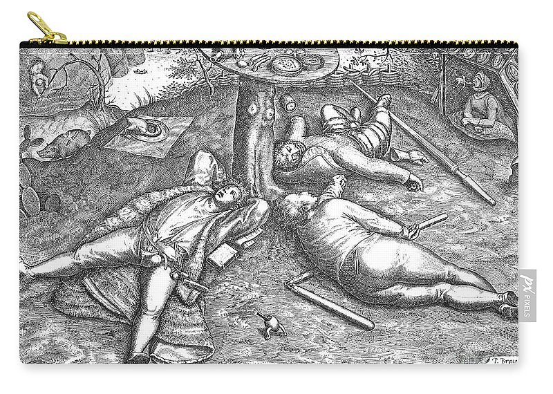 1567 Carry-all Pouch featuring the photograph Land Of Cockaigne by Granger