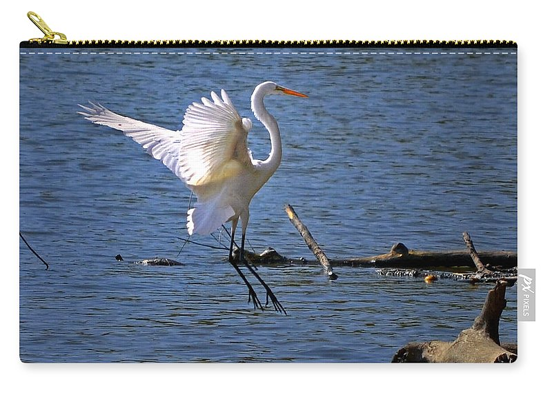 Color Photography Carry-all Pouch featuring the photograph Landing Gear Down by Sue Stefanowicz