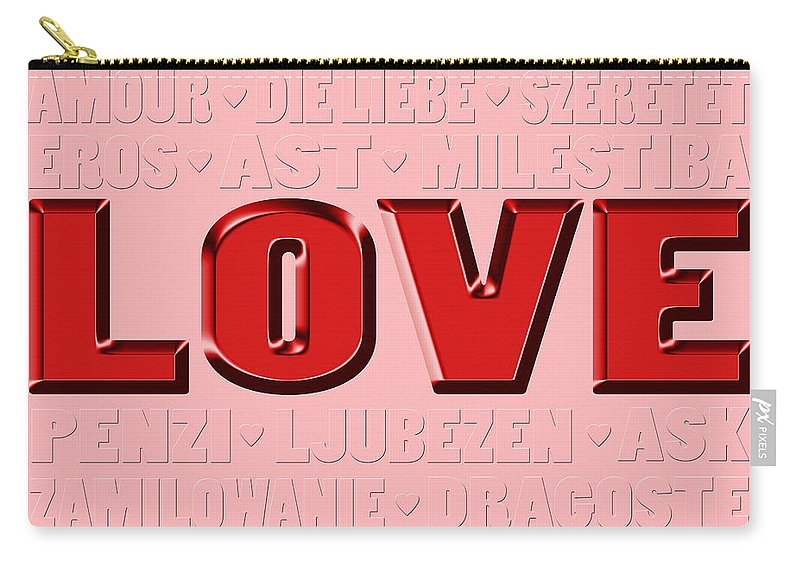 Love Carry-all Pouch featuring the photograph Language Of Love 4 by Andrew Fare