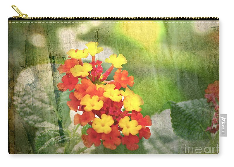 Nature Carry-all Pouch featuring the photograph Lantana Blank Greeting Card by Debbie Portwood