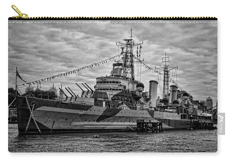 Hms Belfast Carry-all Pouch featuring the photograph Largest In The Fleet by Heather Applegate