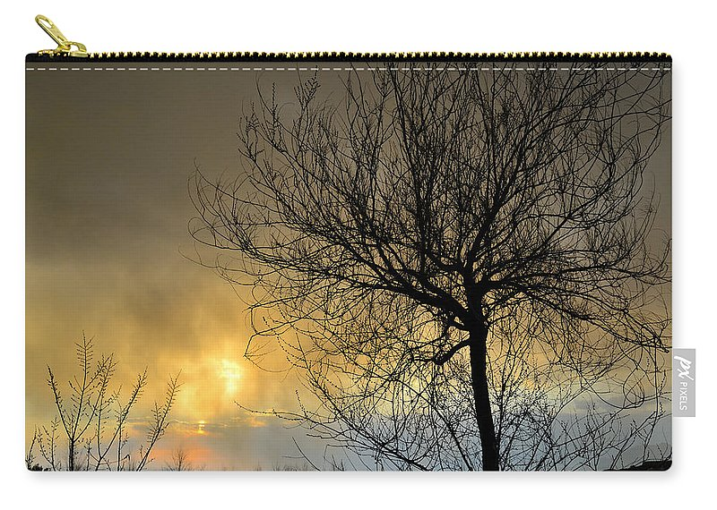 Abstracts Carry-all Pouch featuring the photograph Last Light In The Storm by Guido Montanes Castillo