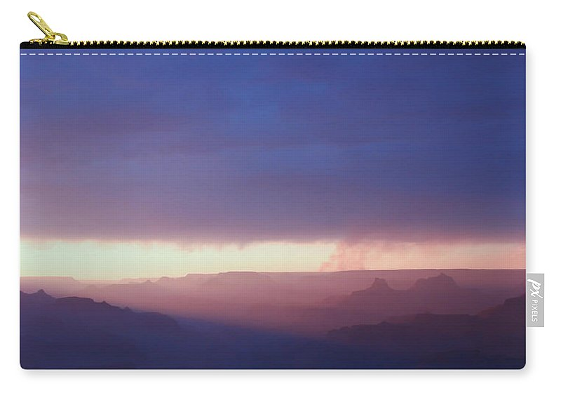 Purple Carry-all Pouch featuring the photograph Last Light Of Day by Heidi Smith
