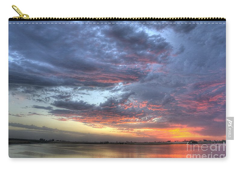 Sunset Carry-all Pouch featuring the photograph Last Light Over The Lake by Jim And Emily Bush