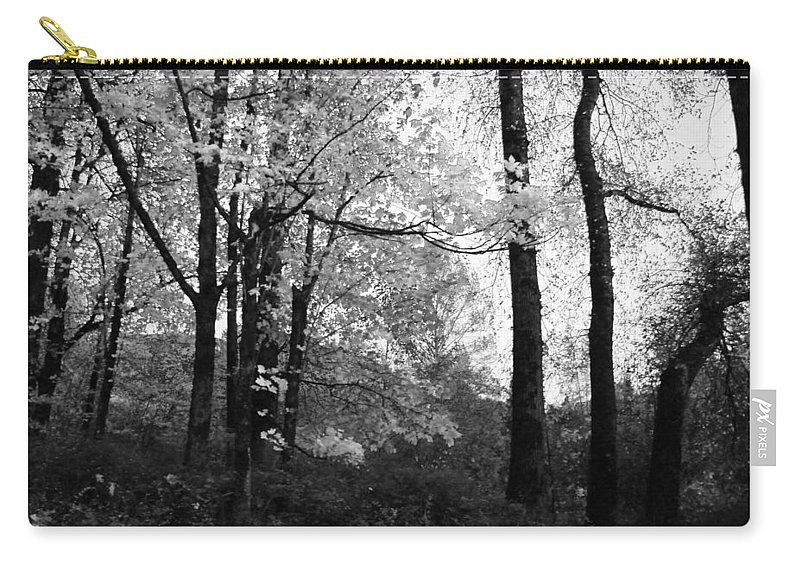 Leaves Carry-all Pouch featuring the photograph Lasting Leaves by Kathleen Grace