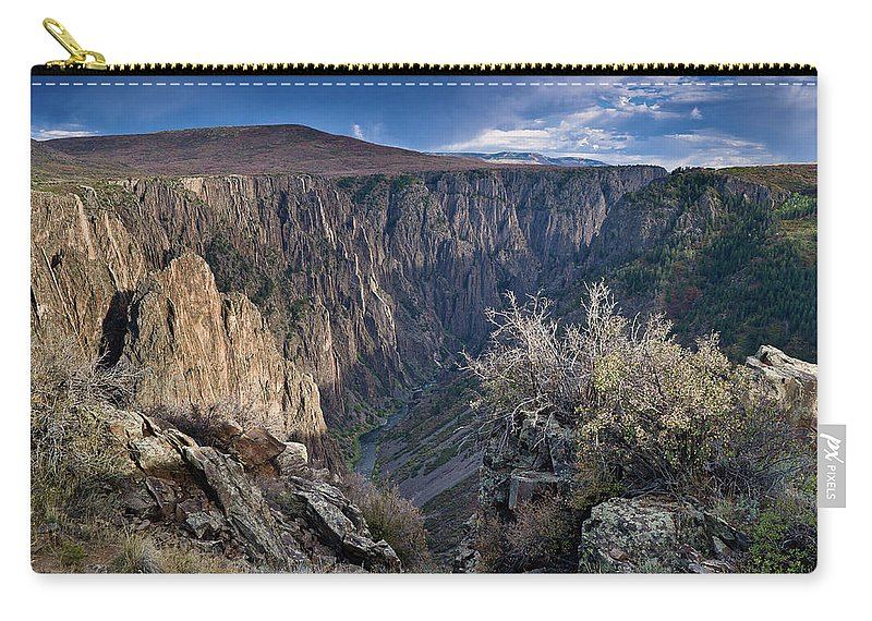 Black Canyon Of The Gunnison Carry-all Pouch featuring the photograph Late Afternoon At Black Canyon Of The Gunnison by Greg Nyquist