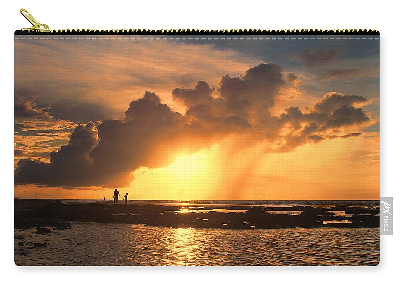Causarina Coastal Reserve-top-end Carry-all Pouch featuring the photograph Late Afternoon Beach Walk by Douglas Barnard