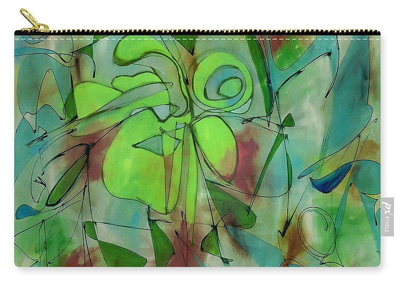 Abstract Carry-all Pouch featuring the painting Laughing Lotus by Lynne Taetzsch