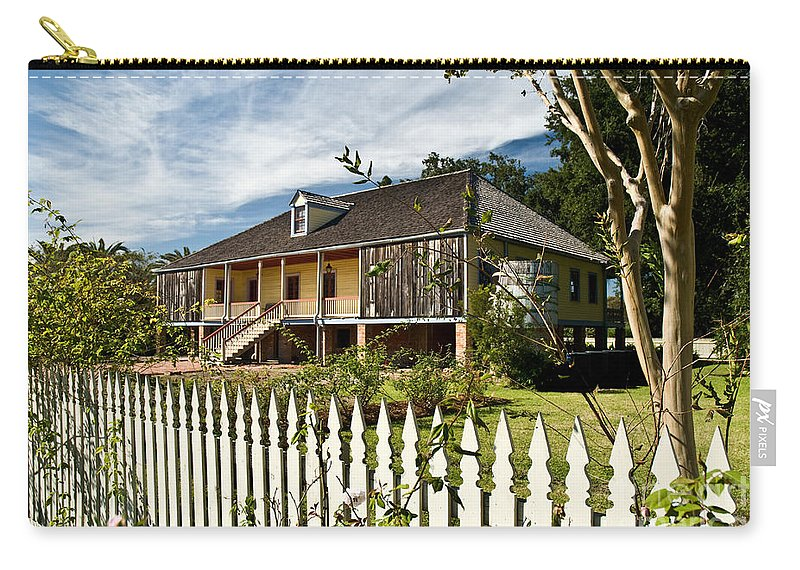 Register Carry-all Pouch featuring the photograph Laura Creole Plantation by Jim Chamberlain