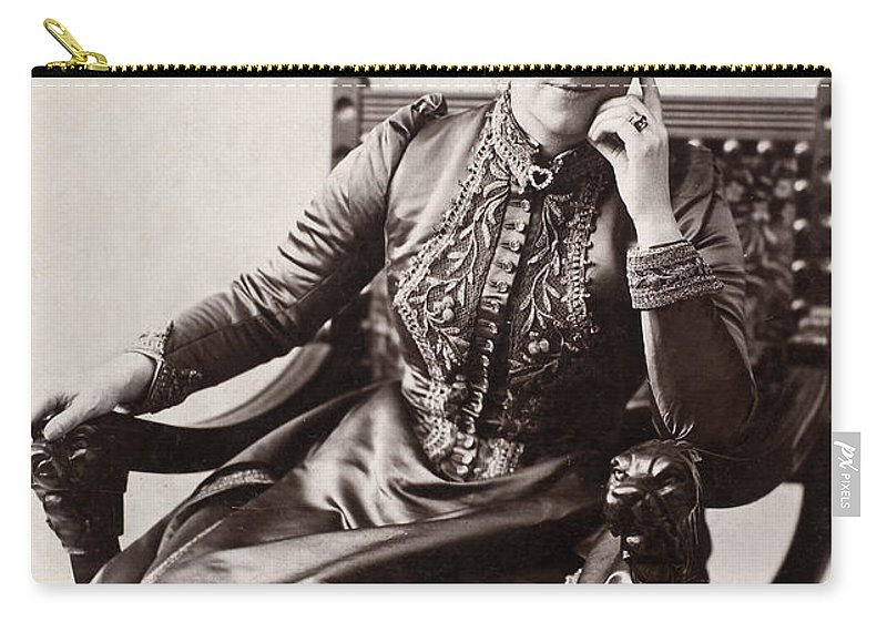1893 Carry-all Pouch featuring the photograph Laura Ormiston Chant by Granger