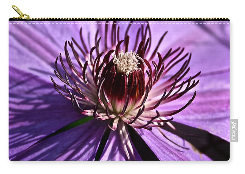 Plant Carry-all Pouch featuring the photograph Lavender Clematis by Susan Herber