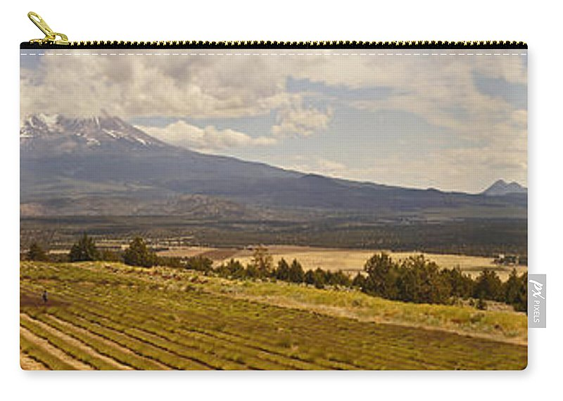 Panorama Carry-all Pouch featuring the photograph Lavender Farm Panorama by Mick Anderson