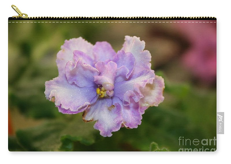 Outdoors Carry-all Pouch featuring the photograph Lavender Frost by Susan Herber