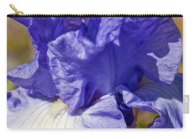 Flower Carry-all Pouch featuring the photograph lavender Iris by Tikvah's Hope