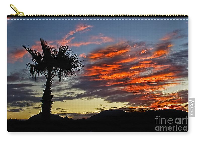 Desert Carry-all Pouch featuring the photograph Layered Sunrise by Robert Bales