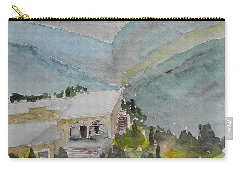 Lebanon Carry-all Pouch featuring the painting Le Liban Perdu 2 by Marwan George Khoury