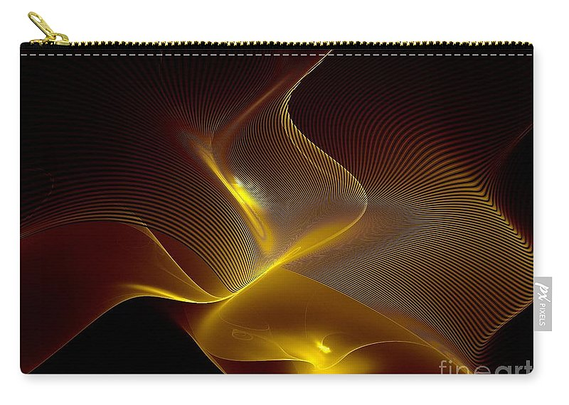 Fractal Carry-all Pouch featuring the digital art Leaning Into Each Other by Klara Acel