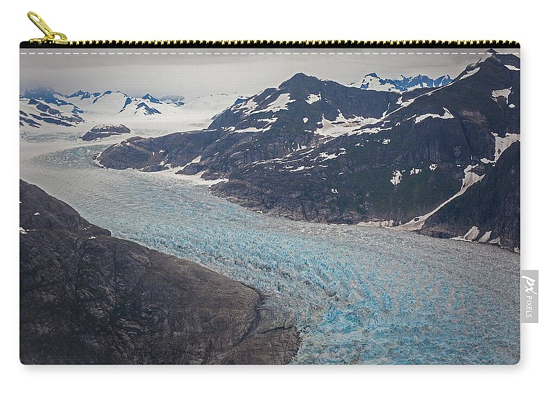 Frederick Sound Carry-all Pouch featuring the photograph Leconte Glacial Flow by Mike Reid