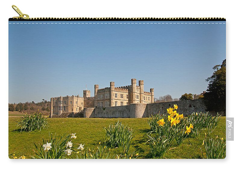 Leeds Castle Carry-all Pouch featuring the photograph Leeds Castle In Spring 2 by Chris Thaxter