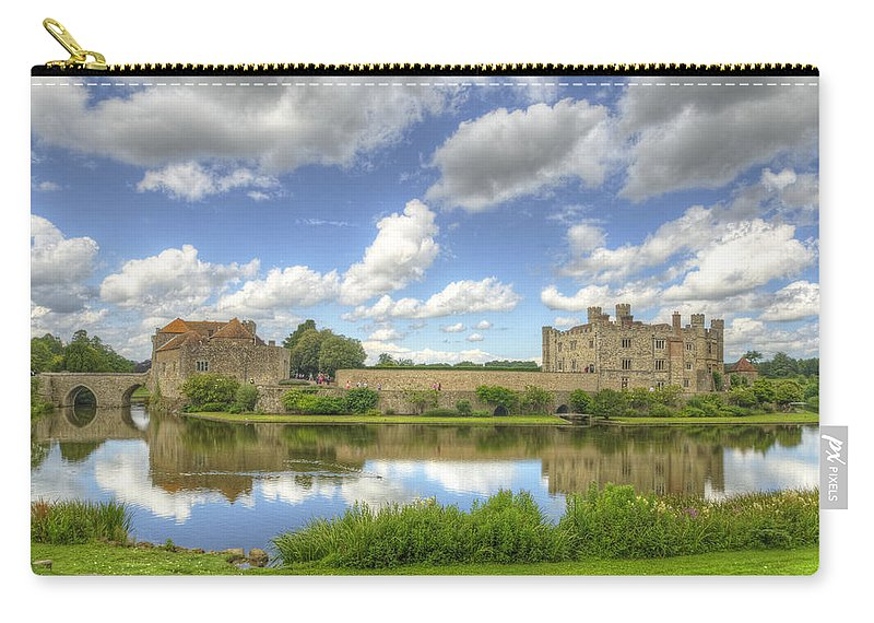 Castle Carry-all Pouch featuring the photograph Leeds Castle Reflected by Chris Thaxter