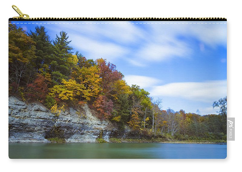 Autumn Carry-all Pouch featuring the photograph Lees Landing by Rick Berk