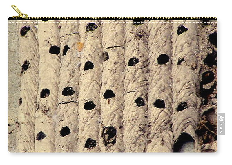 Mud Dauber Nest Carry-all Pouch featuring the photograph Left Behind by Joe Pratt