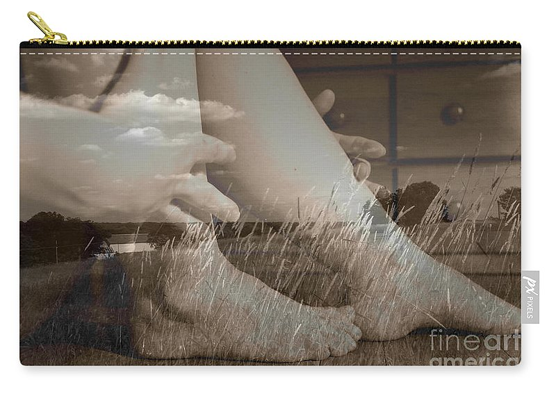 Nudes Photographs Carry-all Pouch featuring the photograph Leggy Fields by Trish Hale