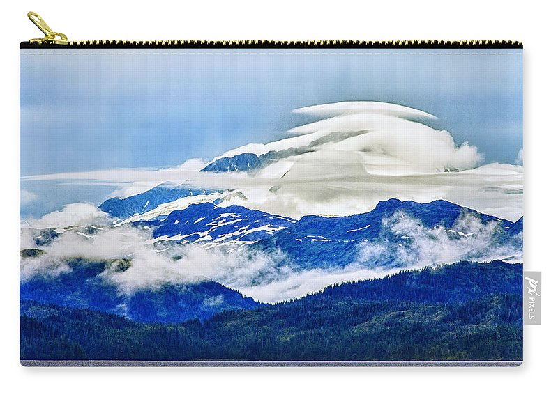 Alaska Carry-all Pouch featuring the photograph Lenticular And The Chugach Mountains by Rick Berk