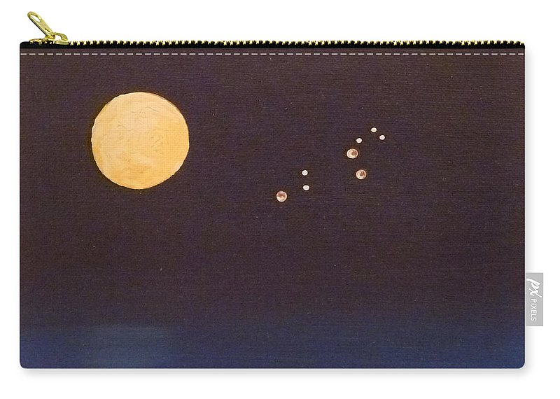 Leo Carry-all Pouch featuring the painting Leo by Alys Caviness-Gober