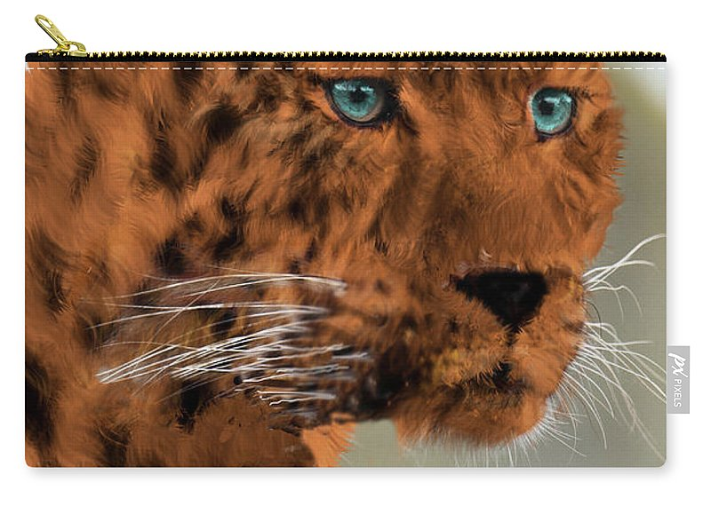 Leopard Carry-all Pouch featuring the photograph Leopard - Featured In The Group Wildlife by Ericamaxine Price
