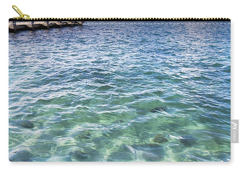 Boats Carry-all Pouch featuring the photograph Leopard Ray by Debra and Dave Vanderlaan