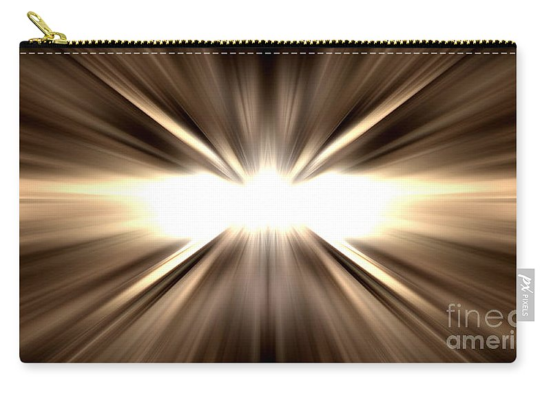 Starburst Carry-all Pouch featuring the photograph Let There Be Light by John Chatterley
