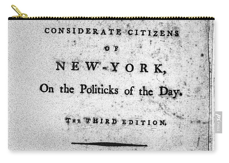 1784 Carry-all Pouch featuring the photograph Letter From Phocion, 1784 by Granger