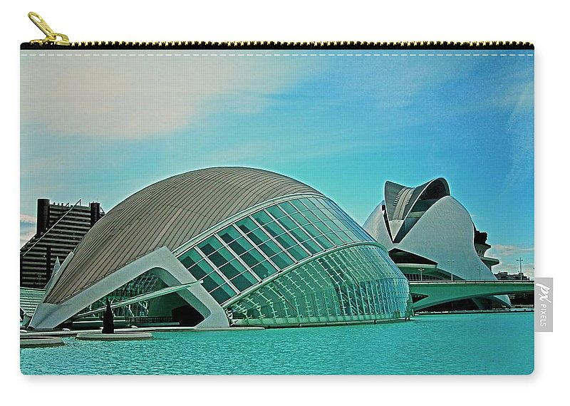 Europe Carry-all Pouch featuring the photograph L'hemisferic - Valencia by Juergen Weiss