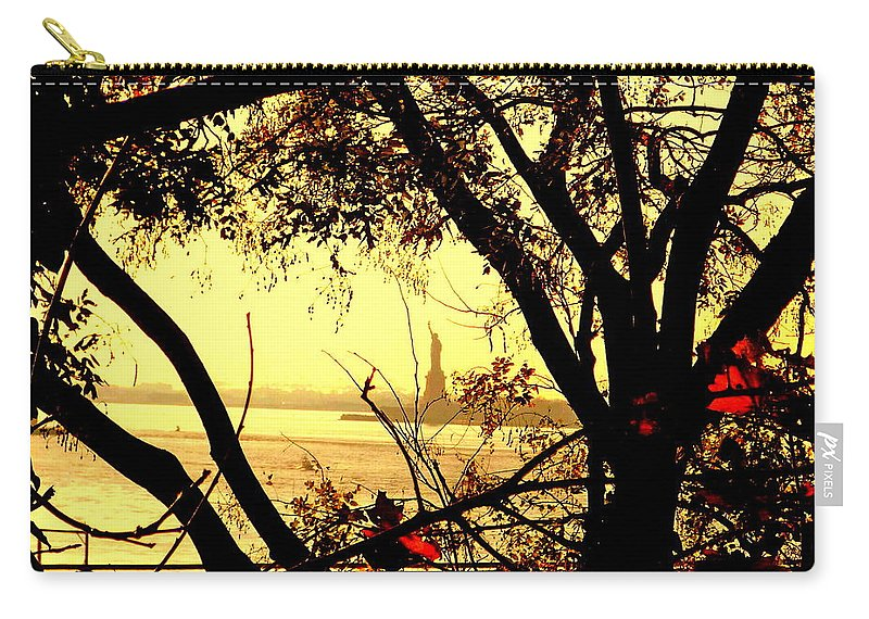 Fall Carry-all Pouch featuring the photograph Liberty Fall by Valentino Visentini