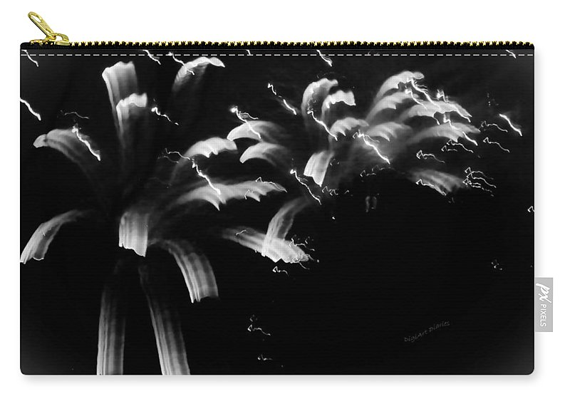 Fireworks Carry-all Pouch featuring the photograph Licorice Sky by DigiArt Diaries by Vicky B Fuller