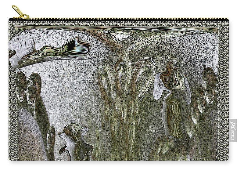 Graphic Art Carry-all Pouch featuring the photograph Life Enclosed by Marie Jamieson