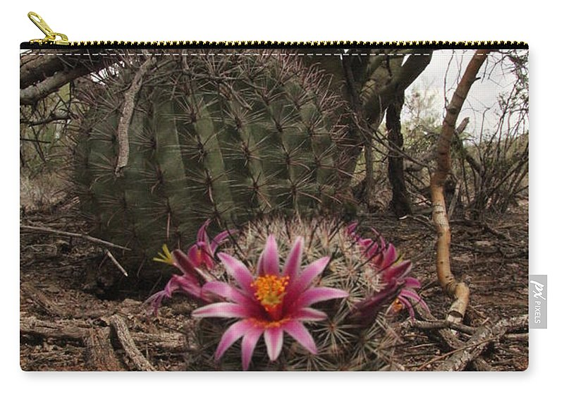Flower Carry-all Pouch featuring the photograph Life In The Desert by Diane Greco-Lesser