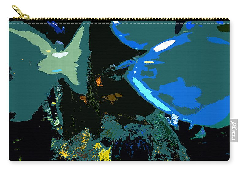Art Carry-all Pouch featuring the painting Life In The Sea by David Lee Thompson