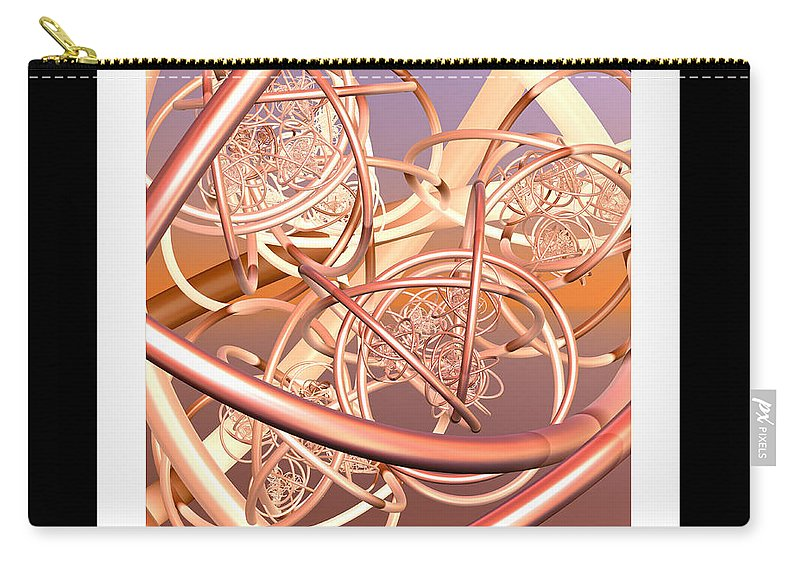Fractal Carry-all Pouch featuring the digital art Life Latitudes by Betsy Knapp