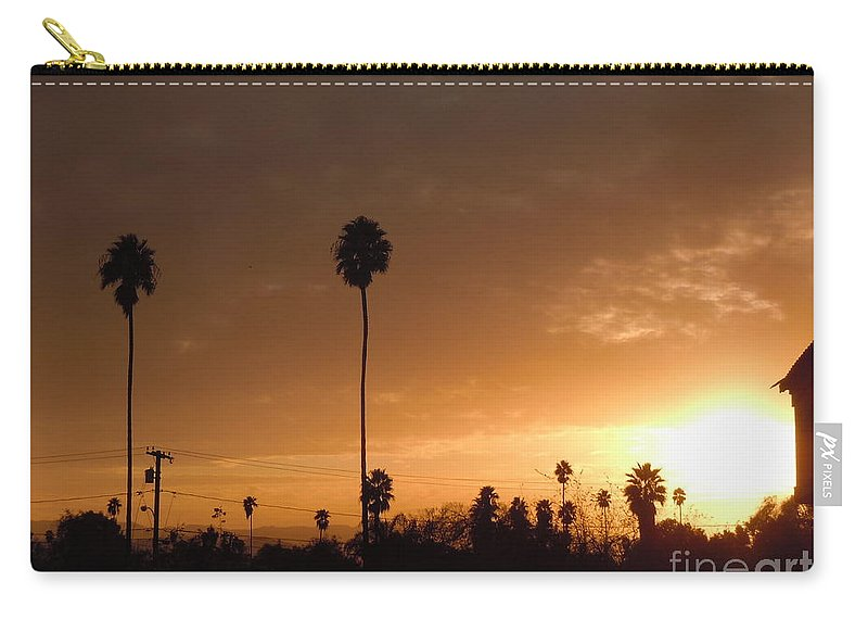 Sun Set Carry-all Pouch featuring the photograph Life Source... by Customikes Fun Photography and Film Aka K Mikael Wallin