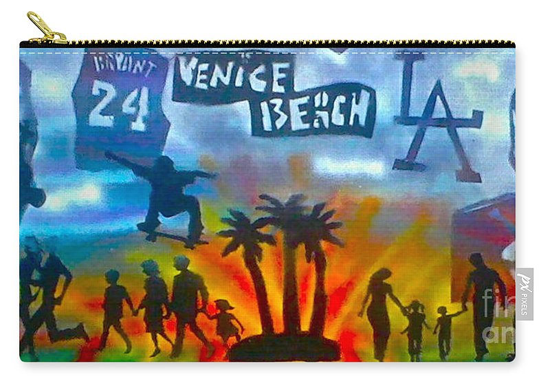 Mermaid Carry-all Pouch featuring the painting Life's A Beach by Tony B Conscious