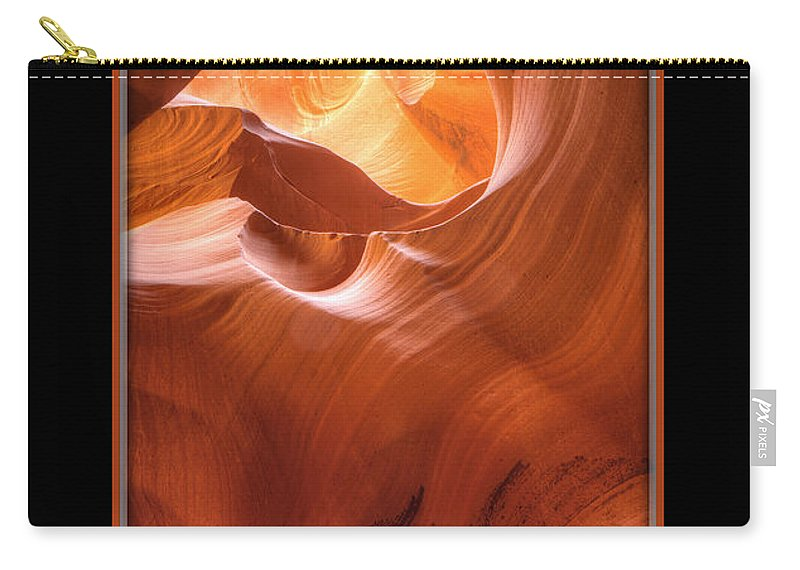 Antelope Canyon Carry-all Pouch featuring the photograph Light On Top by Larry White