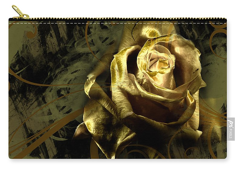 Rose Carry-all Pouch featuring the photograph Light Painted Rose by Ronel Broderick
