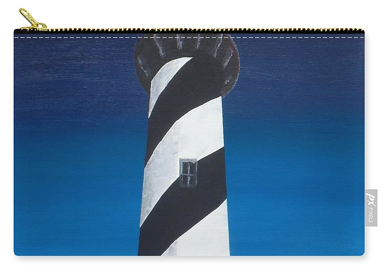 Lighthouse Carry-all Pouch featuring the painting Lighthouse by Kelvin Kelley