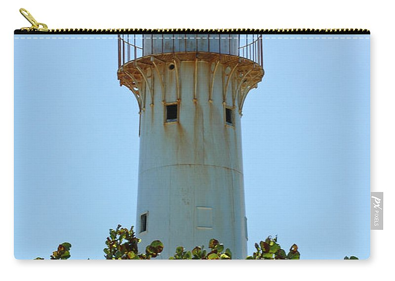 Lighthouse Carry-all Pouch featuring the photograph Lighthouse On Grand Turk 2 by Vivian Christopher
