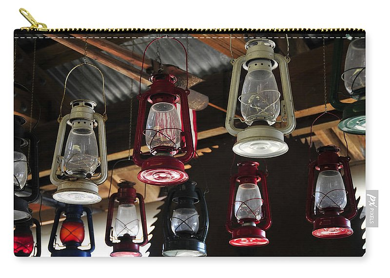 Fine Art Photography Carry-all Pouch featuring the photograph Lighting Americas Way by David Lee Thompson